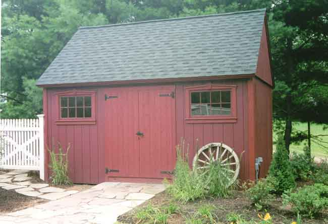 Plywood colonial 10 x 16 plan 2009 better barns for Colonial shed plans