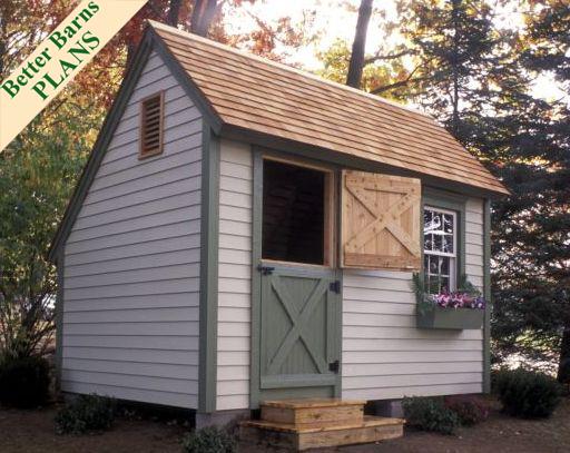 Cedar Saltbox 8 X 12 Plan 2013 Better Barns Hardware