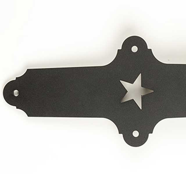 metal hanger with star detail